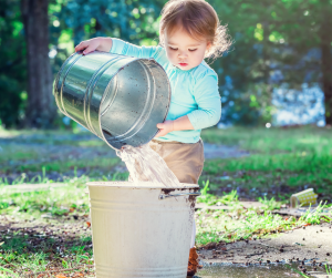 Outside the bucket